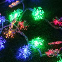 Wholesale Battery Snowflake - Snowflake LED strip 10M 100 LEDS Xmas decoration string US plug  Eu plug  USB 5V  Dry battery operated