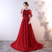 Wholesale Tulle Shawl Formal - SSYFashion New Luxury Lace Flower Mother's Dress with Shawl Appliques Long Evening Party Prom Formal Gown Robe De Soiree