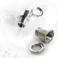Wholesale Ego Adaptors - Metal EGO Adaptor 510 to 510 Adapter Extender 510-510 Adapter Connector for 510 Threading Electronic Cigarette DHL Free