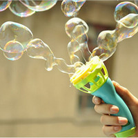 Wholesale Wholesale Bubble Machines - Wholesale-Electric Bubble Gun Toys Machine Automatic Bubble Water Gun Essential In Summer Outdoor Children Bubble Blowing Toy