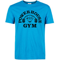 Wholesale Green T House - Powerhouse T shirt Gym training clothing Power house cool word tees Leisure unisex short sleeve gown Quality cotton Tshirt