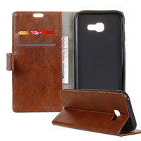 Wholesale xperia flip case - For LG Stylus 3 Crazy Horse Pattern PU Wallet Case Kickstand With Card Slot Flip Cover For SONY Xperia X Samsung S8 OppBag