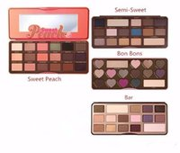 Wholesale Peaches Setting - High quality makeup Sweet Peach Eyeshadow Chocolate Bar Semi Sweet Bon Bons Eyeshadow Palette DHL free shipping