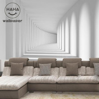 Wholesale Free Paper Backgrounds - Wholesale- Free shipping , 3d stereo sofa tv background wall wallpaper painting waterproof PVC Pure white Custom sizes
