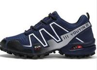 zapatillas de trail de luz al por mayor-Venta caliente Speedcross 3 nuevos hombres de la llegada trail trail running racing shoes al aire libre luz transpirable zapatillas zapatos casuales envío gratis