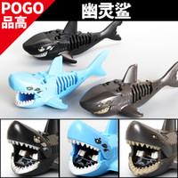 Wholesale Wholesale Sharks Toys - 2017 3 Types of Building Blocks Ghost Zombie Shark Lesaro Captain Santos Pirates of the Caribbean Bricks Action Figures Toys for children