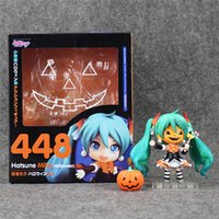 Wholesale Hatsune Doll - LilyToyFirm Hot 10cm Q Version #448 Hatsune Miku Halloween Mobile Action Figure Toys Collection Christmas Toy Doll