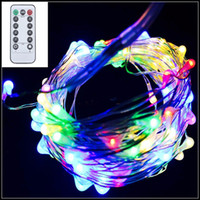 Wholesale Purple Ball Lamp - 10M 100LED 8 mode Battery Operated IP65 Silver Copper Wire String Fairy Light Xmas Party Decor Lamp With Remote Controller 8 mode