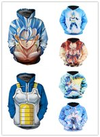 Wholesale Printing Color Codes - 2017 explosion Wukong animation seven Dragon Ball 3D Hoodie muscle male cartoon code and children's clothing