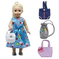 Wholesale Wholesale 18 Inch Doll Accessories - Baby Doll Accessories 4 Colors Bag for 18-inch American Girl Doll Fashion Backpacks Fit Best Gifts