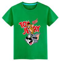 Wholesale Clothing Fashion Boy Kid - 2017 Summer 3-11Y kids clothing for boys t shirt short sleeve boys fashion t-shirt for BOY children's cute cartoon Tom pig Pet Wizard