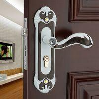 Wholesale Wood Door Knobs - Security & Surveillance Building Supplies European Aluminum Alloy mechanical lock handle Intercom Home tongue wood door Hardware locks