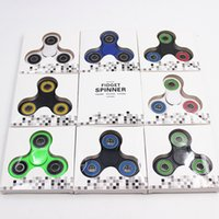Wholesale Plastic Skateboards For Kids - EDC Fidget Spinner toy finger spinner toy Hand tri spinner HandSpinner EDC Toy For Decompression Anxiety Toys with retailed box oth348