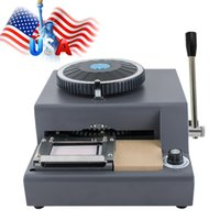Wholesale 72 Character Letters Manual Embosser Credit ID PVC Card VIP Embossing Machine