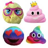 Wholesale Cute Girl with Pink Glasses Emoji Pillow Smiley Emoticon Rainbow Poop Cushion Stuffed Colorful Plush Toy cm New