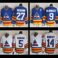 Wholesale 1981 Colorado Rockies Hockey Jersey John Wensink Stitched CCM Lanny McDONALD Rene Robert Rob RaMAGE Throwback Vintage jersey