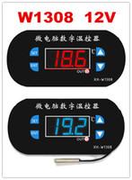 régulateur de température bleu achat en gros de-Nouveau Affichage numérique rouge / bleu W1308 Capteur de température / froid réglable Contrôleur de température 12v