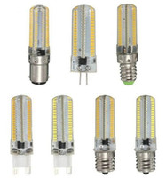Wholesale High Power Halogen Bulbs - Dimmable High power E14 G9 E11 E12 E17 B15 SMD 3014 110V 220V 10w silicone LED Corn Light bulb Replace Halogen Lamp FREE SHIPPING MYY
