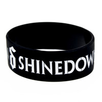 pulseras de metal de silicona al por mayor-1PC Shinedown Silicone Wristband Bracelet Metal alternativo y Hard Rock Style Regalo perfecto para fanáticos de la música