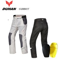 Wholesale Nylon Mesh Pant - 2016 New summer DUHAN mesh motorcycle riding pants Moto racing pant male motorbike trousers Anti-wrestling 2colors 4 size AK-201B