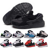 Wholesale Snakers Shoes - 2016 New Kids Huarache Snakers Shoes For Boys Grils Authentic White Red Black Children's Trainers Sport Running Shoes Size 28-35