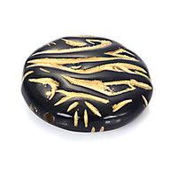 плоские пластиковые прелести оптовых-30 шт. 8x26 мм акриловые плоские круглые пластиковые бусины с золотой подкладкой diy распорку очарование античный дизайн бусины ювелирные изделия аксессуары