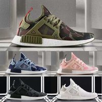 Wholesale Duck Racing - 2017 NMD XR1 running shoes green Duck Camo sports Sneakers Men fall olive green White Duck Camo high quality Footwear Women Outdoor Shoes