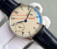 Wholesale White Dial Pilot Watch - Factory Supplier Luxury AAA Brand Wristwatches IW500107 Automatic movement Mens Watch Watches 42mm pilot No Chronograph White Dial