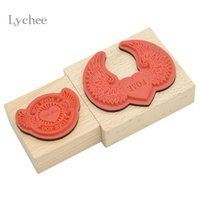 Wholesale Wooden Love Stamp - Wholesale- Lychee Wings Design Love Pattern Wooden Stamps For DIY Scrapbooking Photo Album Diary Decoration Supplies