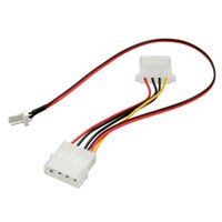 Wholesale Computer Power Adapter Cables - Wholesale- New Arrival 3 Pins to 4 Pins IDE Power Connector Cable Extension Cord Adapter For PC CPU Fan Computer Cables Connectors