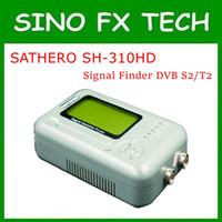 medidor de espectro al por mayor-Nueva llegada más rentable original Sathero SH-310HD DVB-S2T2 HD Analizador de espectro Digital Satellite Finder Meter SH 310HD