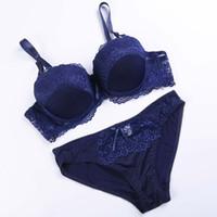 Wholesale High Briefs Lingerie - Original authentic high grade plus siz bra brief sets bras for women underwear bra set lace sexy lingerie panty female underwear