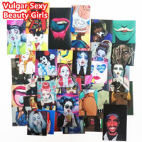 54 Pcs Vulgar Sexy Beauty Girls Autocollants Laptop Motocyclette Skateboard Doodle DIY Autocollant Décoration intérieure Décoration de jouet Décalage de télévision