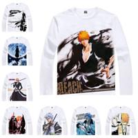Wholesale White Ichigo - Anime Shirt Tite Kubo BLEACH T-Shirts Multi-style Long Sleeve Ichigo Kurosaki Cosplay Motivs Hentai Shirts