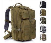 Wholesale Wholesale Military Backpacks - 30L Hiking Camping Bag Military Tactical Trekking Rucksack Backpack Camouflage Molle Rucksacks Attack Backpacks