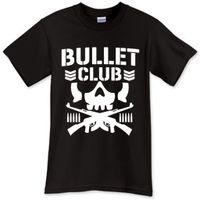 Wholesale Bone Logos - Stranger Things Design T Shirt 2017 New BULLET CLUB Bone Soldier NJPW MENS LOGO Tee Shirt Black T-Shirt Size S-3XL