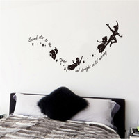 Wholesale Wall Decals Low Prices - Wholesale- Lowest Price Halloween for Creative Flying Witches Home Wall Decal Second Star To The Right Vinyl Wall Stickers