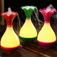 humidificadores de botella al por mayor-Ultrasónico del aroma Led humidificador de aire Difusor Jade botella purificador del atomizador esencial difusor de aceites difusor de aroma niebla nebulizador