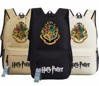 impresión portátil al por mayor-Mochila de Harry Potter Hogwarts Houses Mochila escolar de Oxford con mochila escolar Mochilas escolares Gryffindor Lytherin Hufflepuff y Ravenclaw