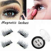 Wholesale Eyelash Hair Extensions - Magnetic Eye Lashes 3D Mink Reusable False Magnet Eyelashes Extension 3D Eyelash Extension Magnetic Eyelashes 4pcs set CCA7063 50set
