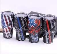 Wholesale Large Spoons - 30oz 20oz 12oz 10oz Stainless Steel Tumblers Bilayer Insulation Car Beer Mugs 30 20 12 10 oz Large Capacity Sports Cups with logo 02