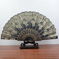 """Wholesale Restored Antique - Folding Hand Held Plastic Silk Fans Bulk for Women - Spanish   Chinese   Japanese Palace Style Restoring Ancient Ways 9.0 """"(22cm) (Mixed"""
