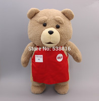 Wholesale Ted Movie Wholesale - Wholesale- Cartoon Movie Teddy Bear TED Plush Toys Soft Stuffed Animal Dolls Classic Toy 45CM 18'' Kids Gift