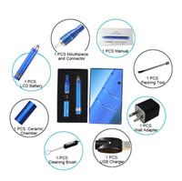 caneta vape g5 atrás venda por atacado-Ago G5 com display LCD erva seca vaporizador cera vaporizador óleo kit começar Ecig G5 vape caneta Kit cigarro eletrônico DHL frete grátis