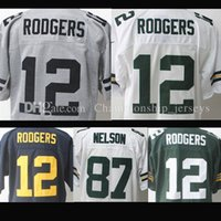 Wholesale Cheap Elites - Cheap High quality Men's #12 Aaron Rodgers jerseys 100% Stitched Logos Elite Jersey hot sale Free shipping
