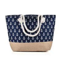 bolsos de anclaje al por mayor-Nuevo Anchor Beach Bag tipo de luz cremallera de la lona bolso de la mujer bolso de viaje Sea Ladies Casual Totes bolsas de hombro totalizador QQ2144