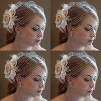 ingrosso cappelli formali da ragazzi-Nuovi accessori da sposa tra cui cappelli da sposa eventi matrimoni Tessuto reticolato vendita calda occasione formale per i bambini Veli da sposa Suruimei