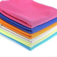 refrigeração toalhas transporte gratuito venda por atacado-Toalha Verão Fria Duplo 100 * 31 centímetros Sports Ice toalha de arrefecimento Para adultos Quick Dry respirável Toalha