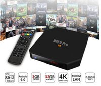 Wholesale Android Tv Box M9 - M9 PRO TV BOX KD 4K 3G 32G 802.11 S912 Octa Core Android 6.0 Smart TV Box 4K Dual WIFI 1000M LAN Bluetooth Player