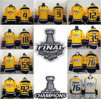 Wholesale Forsberg Jersey - 2017 Hockey Jersey Nashville Predators 4 Ryan Ellis 9 Filip Forsberg 12 Mike Fisher James Neal White Yellow